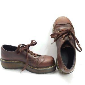 Dr Martens 8651 Brown Sz L9/M8 Ankle Boots Shoes